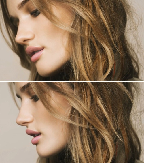 ...: Hair Beautiful, Rosie Huntington Whiteley, Hair Colors, Natural Beautiful, Wavy Hair, Summer Makeup, Hair Makeup, Pink Lips, Natural Looks