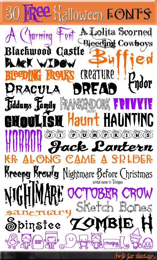 174 halloween crafts decor and recipes - Good Halloween Font