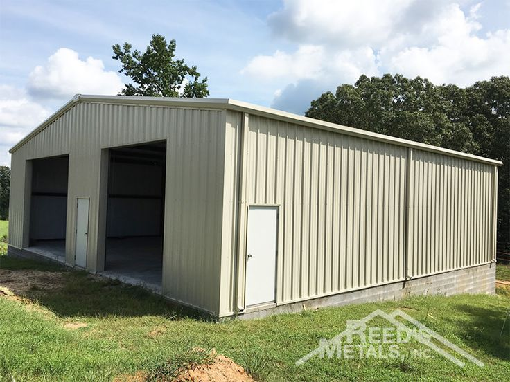 50x50x14 Enclosed Rigid Frame Shop with Gutters