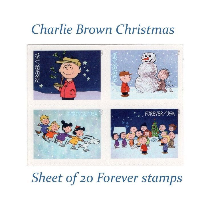 Sheet of 20 Charlie Brown Christmas Forever stamps