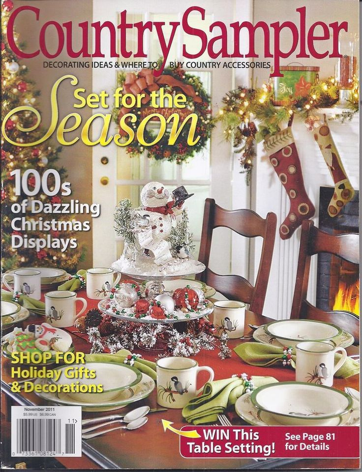 country sampler magazine seasonal ideas christmas displays holiday