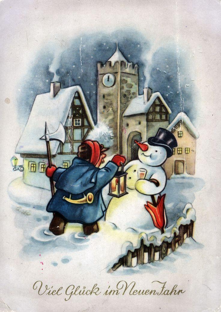 Ночи картинки, открытка к новом году на немецкому