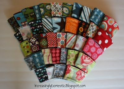 tutorial for reversible coffee cozies - I really, really need to learn to sew! (and get a machine)