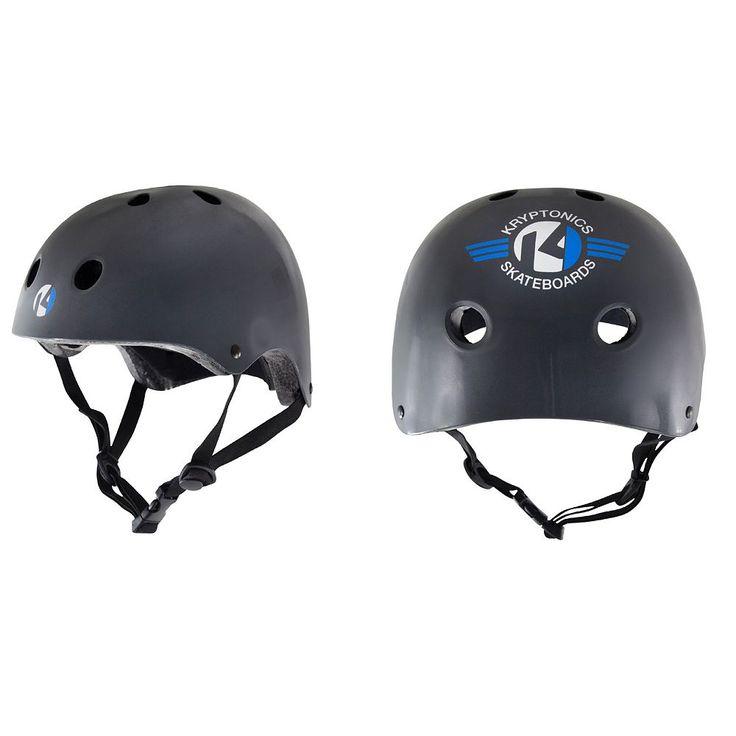 Kryptonics Starter Skateboard Helmet, Black