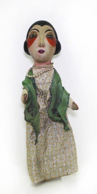 'Délie, la femme fatale' (1923) by French dramatist Léon Chancerel (1886-1965). Puppet. via Société d'Histoire du Théâtre