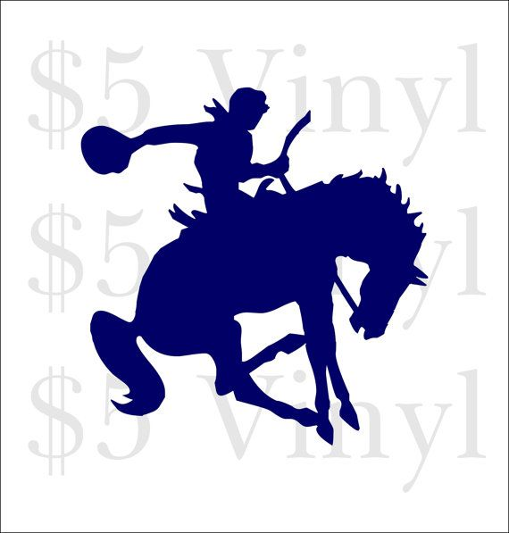 Bucking Bronco Horse Vinyl XS-SMALL Car Decal by FiveDollarVinyl
