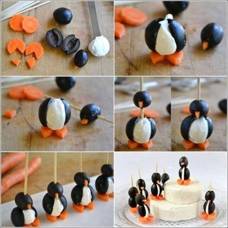 Apéritif ludique avec ces petits #pingouins à croquer