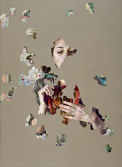 Fragmented Paintings Reveal Complex Narratives - My Modern Metropolis by Agnes Toth