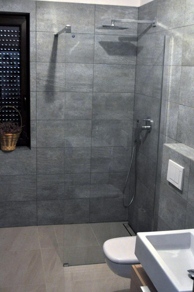 Grey bathroom shower