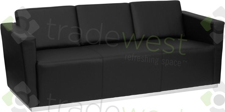ENERGi - 809-3 Sofa - Black Leather