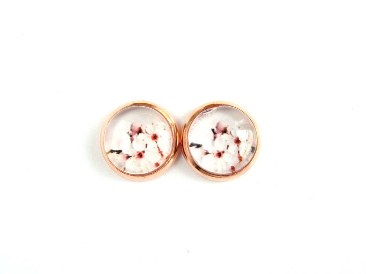 Flowers #12 Stud Earrings by CarolinePrecjoza on Etsy