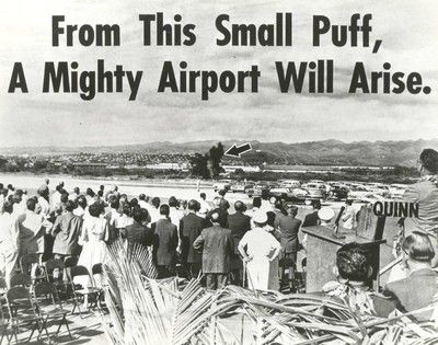 Maui, Groundbreaking ceremony, February 1, 1965. Kahului Airport, Maui ...