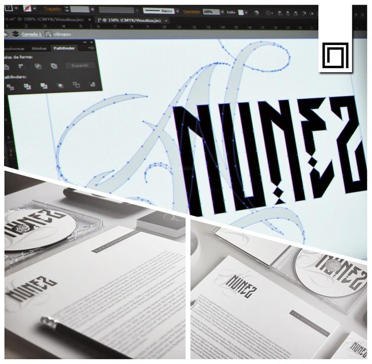 """Criação de tipografia e identidade visual para empresa NUNEZ Street Wear. GN DESIGN """"Construção de marcas fortes e bem posicionadas na mente do consumidor""""."""