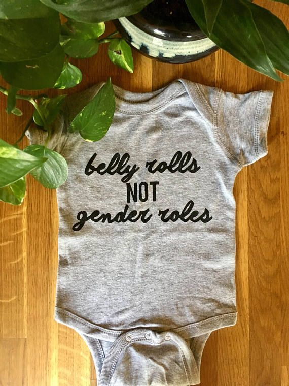 Feminist Baby Protest Baby Outfit Belly Rolls Not Gender Roles Feminist Baby One Piece Creeper Romper Feminist Baby Baby One Piece Kids Feminist Shirt