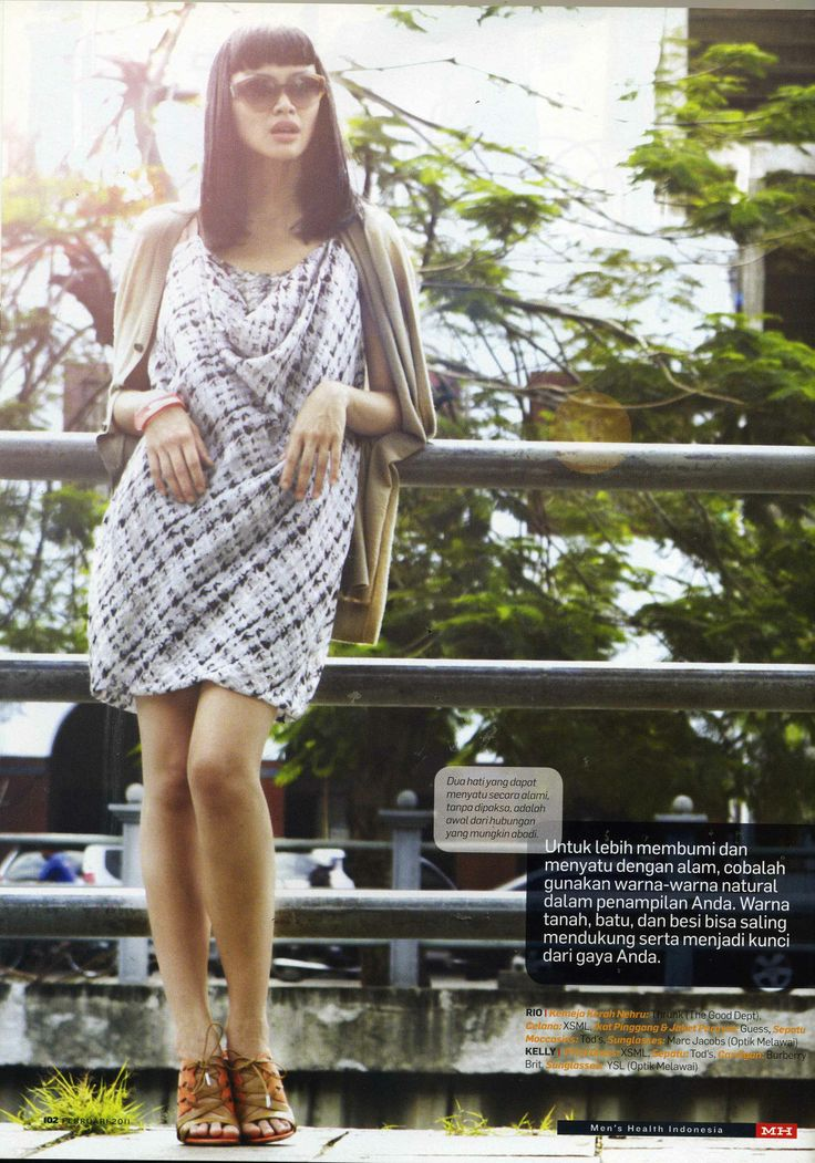 (X)S.M.L Print Dress is appeared on fashion spread rubric Men's Health Indonesia - February 2011