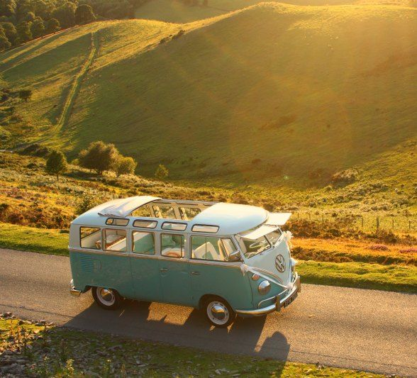 Travelling in Style.  Need A VW Campervan In My Life!