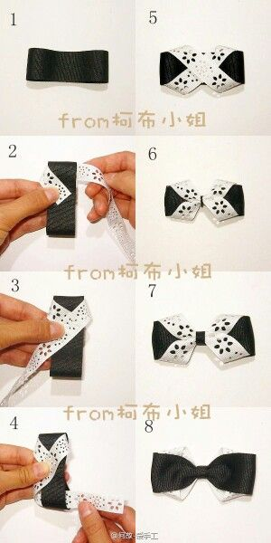 Cute hair bow tutorial