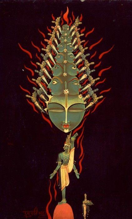 Vishvarupa by Raghupatti Bhatta, displayed at Yoga Matrix. / Sacred Geometry <3