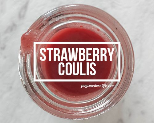 Easy strawberry coulis