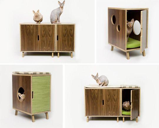 mid century modern furniture | Modernist Cat: Mid-Century Modern Feline Furniture — hauspanther
