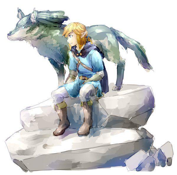 link ⟡ wolflink ⟡ legend of zelda ⟡ breath of the wild ⟡ fanart