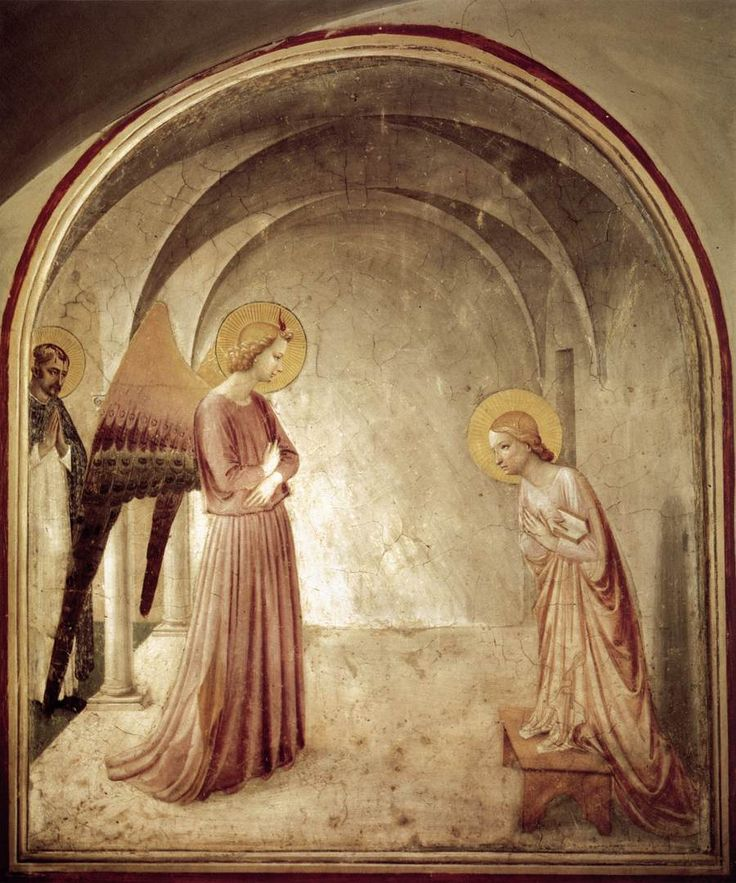 The Annunciation - Fra Angelico - 1440  http://www.socialhistoryofart.com/apps/photos/photo?photoid=174036313