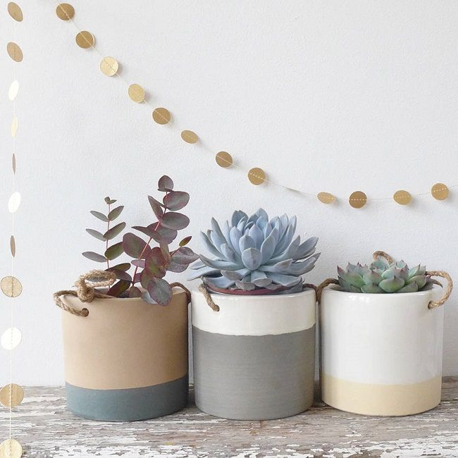 ceramic hanging plant pot holders from lilac coast