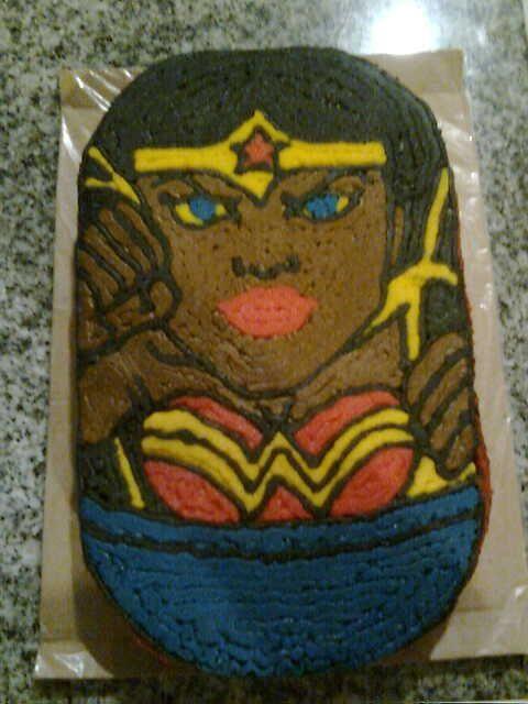 Mighty Bean wonderwoman cake