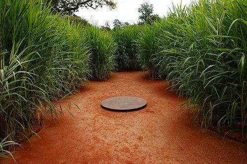 Sugar cane in an orange path Contemporary Garden (1) by KarlGercens.com GARDEN LECTURES, via Flickr