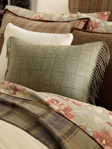 Shetland Manor wool Pillow, Ralph Lauren...mix and match patterns.