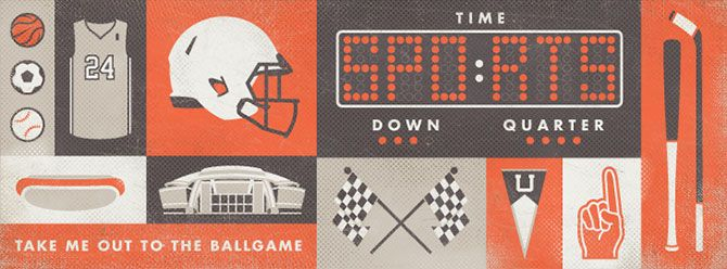 Sports web banner. A series of web banners illustrated by Tim Sullentrup
