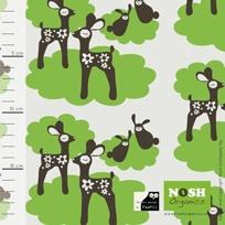 Bambi luomupuuvilla single, vihreä