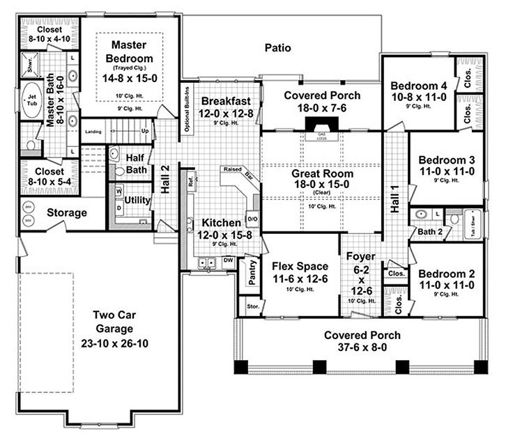 Best 25 2200 Sq Ft House Plans Ideas On Pinterest