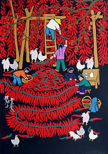 Red Hot Chili Peppers - South Chinese folk art
