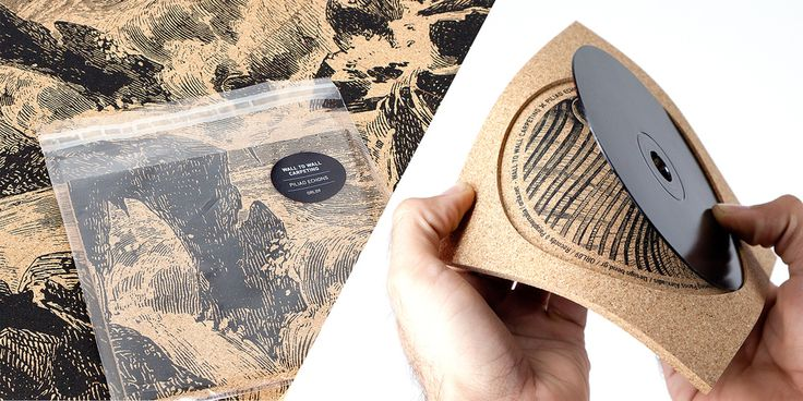 Innovative cork album cover is a screen-printed delight