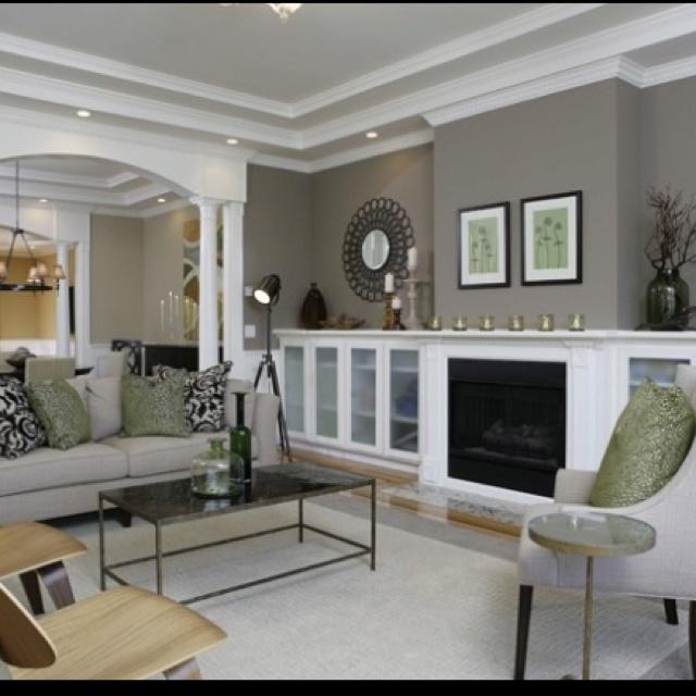 Love this room: Wall Colors, Living Rooms, Built In, Paintings Colors, Builtin, Paint Colors, House, Rooms Colors, Benjamin Moore
