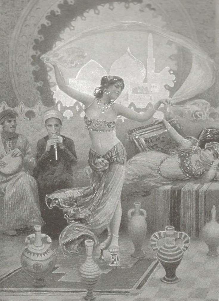 Portrait de danseuses, d'après des tableaux orientalistes. 1910
