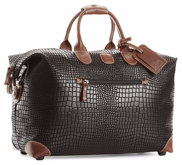 NWT Bric's LIFE SPECIAL HOLDALL Durable Micro-Suede 18-Inch Cargo/Duffel - Black