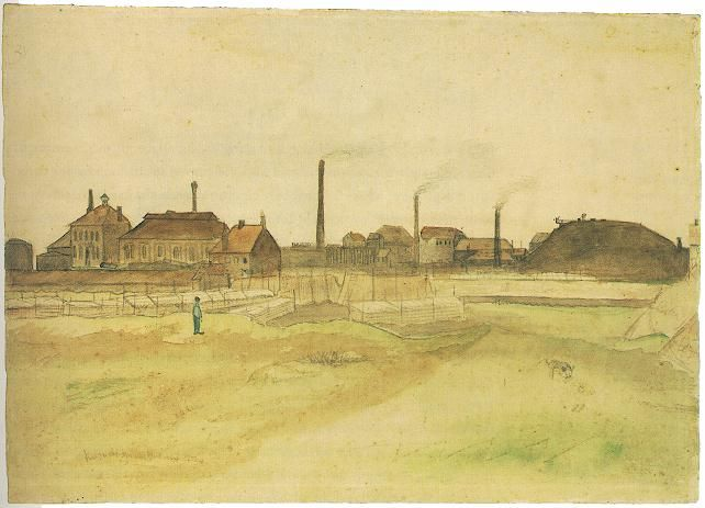 Vincent van Gogh: The Watercolours - Coalmine in the Borinage  Cuesmes-Wasmes: July-August, 1879 (Amsterdam, Van Gogh Museum) F 1040, JH 100