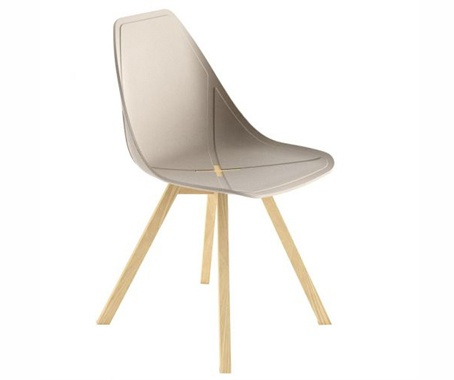 Brilliant neutral contemporary dining chair