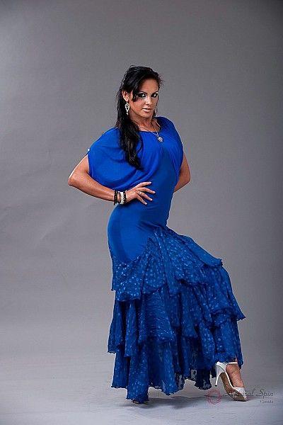 Natural Spin Signature Ballroom Dance Dresses:  BD28_BLUE