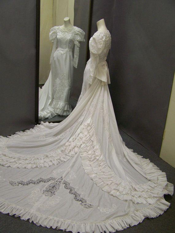 1980s Gone With The Wind Style Wedding Gown Kleider Und