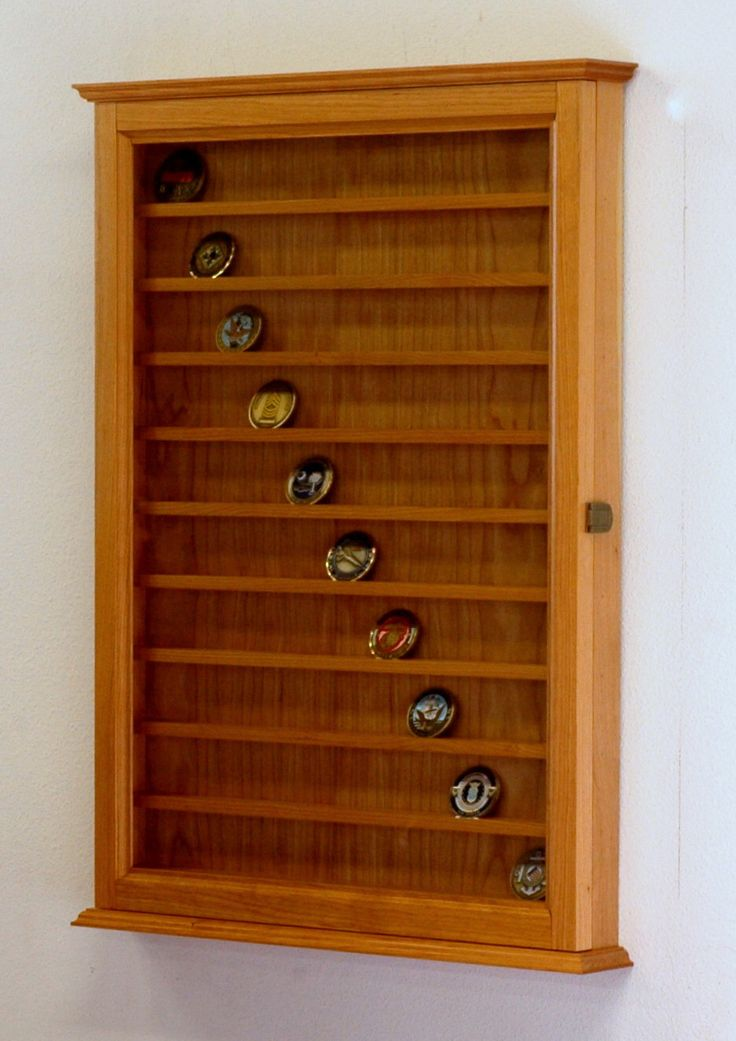 90 Military Challenge Coin Display Cabinet-Cherry Hardwood by fwdisplay on Etsy https://www.etsy.com/listing/116361376/90-military-challenge-coin-display