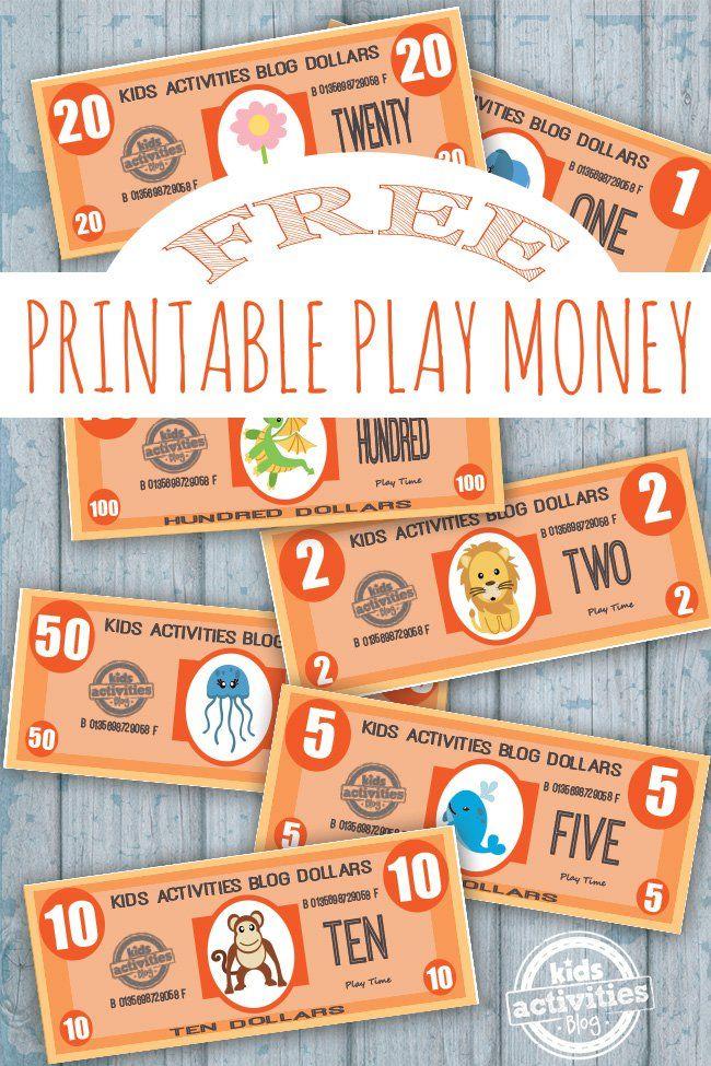 Play Money {Free Kids Printable}