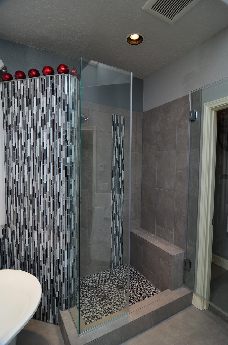 The Custom Tile Shower Is A Magnificent Backdrop For This Peaceful Oasis