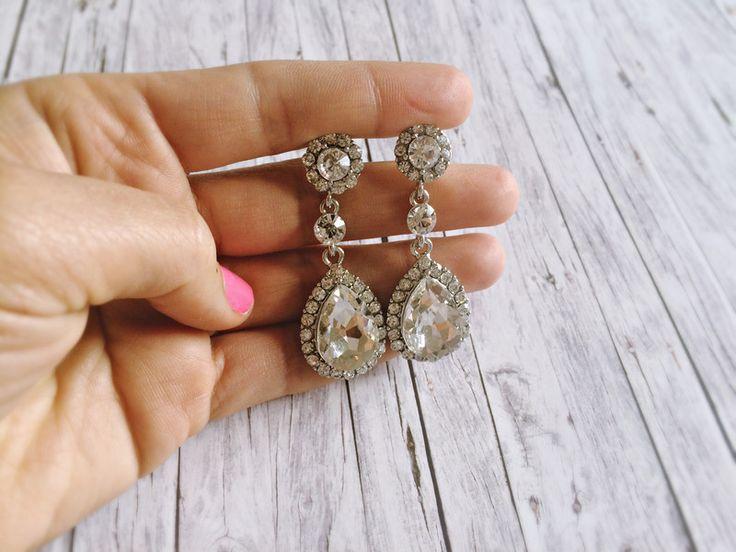 Brautschmuck ohrringe hängend  Die besten 25+ Kristall tropfen Ideen auf Pinterest | handgemachte ...