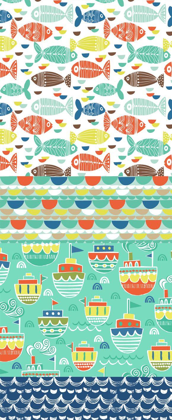 wendy kendall diseña - freelance diseñador patrón de superficie »ahoy buque