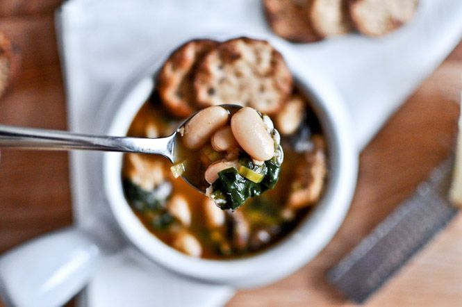 30 minute white bean and chicken soup