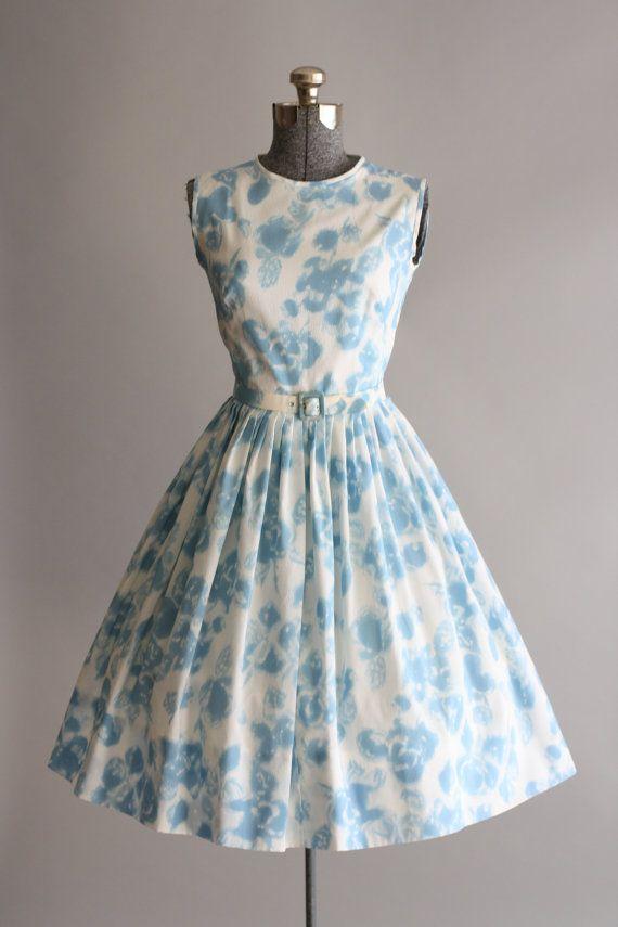 Vintage 1950s Dress / 50s Floral Dress / by TuesdayRoseVintage