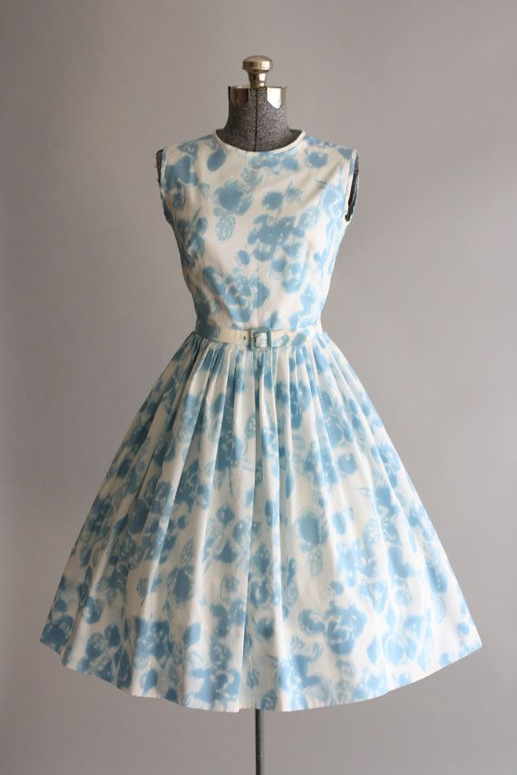 Vintage 1950s Dress / 50s Floral Dress / by TuesdayRoseVintage